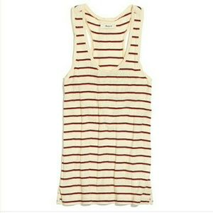 Madewell Ribbed Racer Back Tank Striped XS